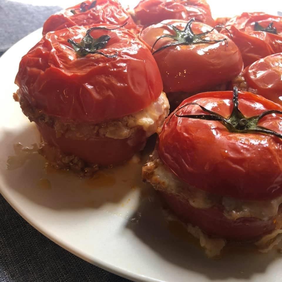 トマトのミートソースオーブン焼き